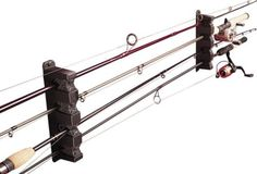 New Fishing Rack 4 Racks Berkley Horizontal Fish Rod Boat Rods Poles Holder Reel