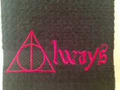 Harry Potter kitchen towel Deathly Hallows by OffTheHookbyLora