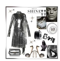 """Dress to shine"" by zabead ❤ liked on Polyvore featuring Vetements, Giuseppe Zanotti, Fallon, Levi's, Givenchy and Marni"