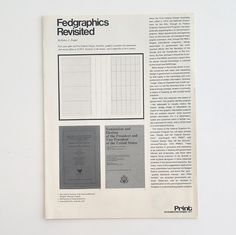 """""""Without the grid I couldn't do it"""" in 1976, Massimo Vignelli won the contract…"""