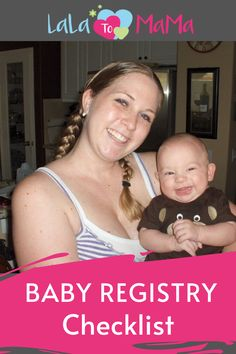 Baby Registry Checklist- A great place to start once you find out you are pregnant. It can be overwhelming to know what you need or don't need with a new baby. Start with this registry checklist to help guide you through the process