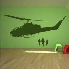 Army Helicopter Transport Wall Art Decal Wall Stickers
