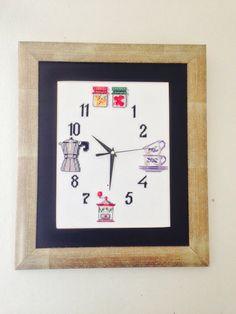 Reloj en punto de cruz