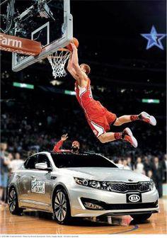 #NBA Blake Griffin DUNKS over #Optima 2011 Slam Dunk Contest Winner #KIA