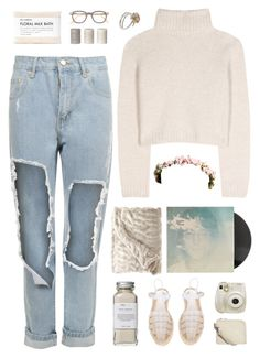 """Imagine, John Lennon"" by blendasantos ❤ liked on Polyvore featuring Fig+Yarrow, The Row, WearAll, Très Pure, Calypso Home, Urban Outfitters, Miista, Cheap Monday, Fuji and Claire Hart Design"