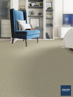 Bugalow Pet Friendly carpet shown in the Sandcastle color | Available at Avalon Flooring | Starting at $5.09/square foot | #carpet #carpeting #petfriendlycarpet