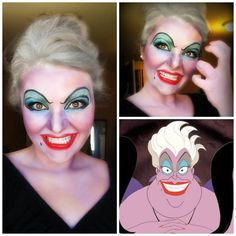 Halloween makeup of the evil sea witch.. @darlene Budd you should be this ... If Hailey wears the mermaid costume.