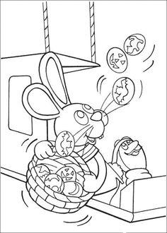 Peter Cottontail Kleurplaten voor kinderen. Kleurplaat en afdrukken tekenen nº 50