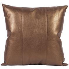 """Howard Elliott Shimmer Bronze 20"""" x 20"""" Pillow 2-294"""