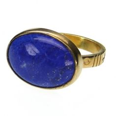 Gold ring with a Greek blue lapis gem stone. Search handmade gold rings and gemstones from Athena's Treasures. Greek Jewelry, Silver Jewelry, Fine Jewelry, Baguette, Art Nouveau, Lapis Lazuli Jewelry, Handmade Rings, Handmade Jewelry, Blue Rings