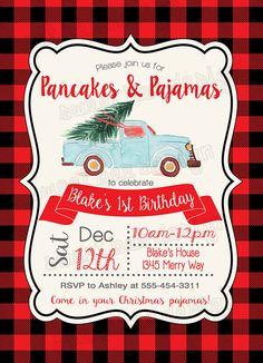 Pancake Birthday Invitation, Pancakes and Pajamas Birthday Invitation, Winter Birthday Party, Pajama Birthday Brunch, 2nd Birthday, Birthday Ideas, Turtle Birthday, Turtle Party, Carnival Birthday, Bruschetta Bar, Pancake Party, Noel