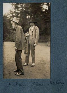 Robert Bridges and Aldous Huxley by Lady Ottoline Morrell; vintage snapshot…