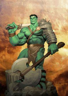 Planet Hulk by Ariel Olivetti *
