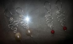 Earrings with pearl I coral
