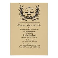 Summons Notice Law School Graduation Invitation  Law School