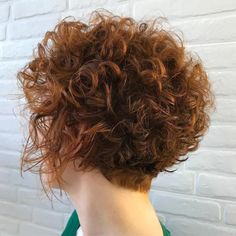 60 Most Delightful Short Wavy Hairstyles Curly Tapered Brown Cut With Copper Highlights Curly Hair With Bangs, Short Wavy Hair, Curly Hair Cuts, Curly Hair Styles, Natural Hair Styles, Curly Bob, Short Curly Haircuts, Easy Hairstyles, Gorgeous Hairstyles