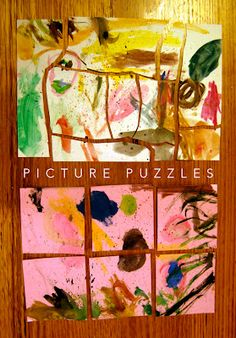 Making picture puzzles for gifts.