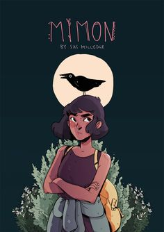 "mimoncomic: ""cover page for my new comic Mimon! The first page is up and will be updating every monday from hereon. I'm really excited about this project and I'm looking forward to sharing it with you all!! "" Here we are!!! At long last the potential..."