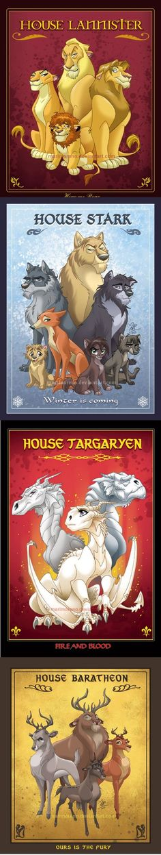 Disney Game of Thrones Animals
