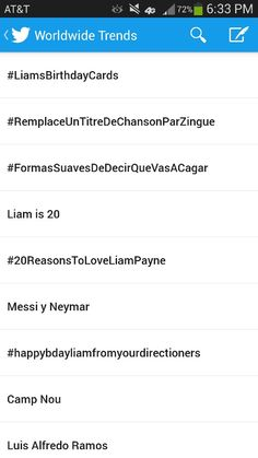 But look how many world trends at the moment involve Liam. Awww