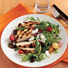 Grilled Chicken and Tomato Salad | MyRecipes.com