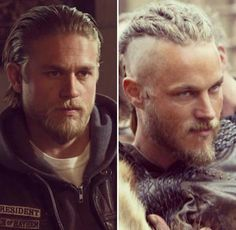 Jax- soa.  Ragnar- vikings Oh YES!!!! ...lord there are two of them...#beautifulmen