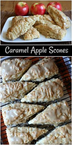 Caramel Apple Scones Recipe From Recipegirl Com Caramel Apple Scones ! caramel apple scones rezept von recipegirl com caramel apple scones Caramel Apple Scones Recipe From Recipegirl Com Caramel Apple Scones ! Breakfast Scones, Apple Breakfast, Breakfast Recipes, Dessert Recipes, Fall Desserts, Breakfast With Apples, Fall Breakfast, Sweet Desserts, Breakfast Ideas