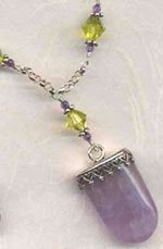 Chain Necklace with Gemstone Tab Tutorial