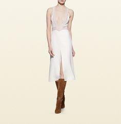 silk cady multi-stitch dress