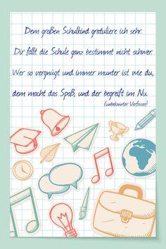 Gedicht Schulanfang: Dem großen Schulkind - Bilder