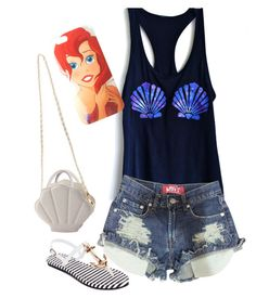 The Little Mermaid by dazeeeeone on Polyvore featuring polyvore, fashion, style, Venus, Disney and clothing
