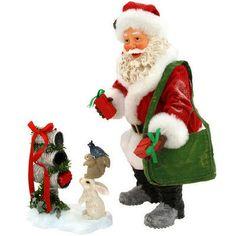 Woodland Creatures Possible Dreams 2 Piece Santa Figure - Possible Dreams Santas - Collectibles - bronners - Categories - Bronner's CHRISTmas Wonderland