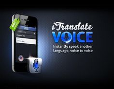 iTranslate Voice App.  There are many translator apps.  While they all do the same job they each have their own quirks and perks.  iTranslate Voice seems to be the most convenient.  Simple speak clearly into your phone and the app automatically translates and plays back what you said in a desired language.  The same goes for whomever you are conversing with when they are ready to respond.  It is NOT a free app.  It is $6.99.  However it is well worth it if you are traveling abroad… Travel Abroad, The Voice, Free Apps, Language, Phone, Instagram Posts, Plays, Traveling, Simple