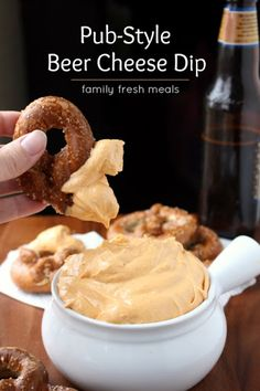 Pub Style Beer Cheese Dip With Sharp Cheddar Cheese, Cream Cheese, Worcestershire Sauce, Dijon Mustard, Garlic, Paprika, Beer