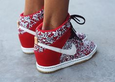 Nike Dunk Sky High Liberty. Wedge for girls so cute!!!