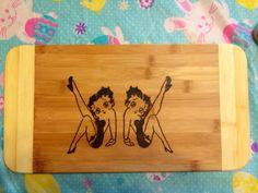 Betty Boop cutting board on Etsy, $25.00 CAD