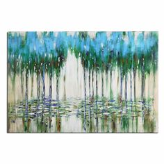 Uttermost 35301 Trees In The Mist Abstract Art