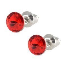 Náušnice Swarovski Elements pecky Rivoli 713fx1122-6-20 - červené - Bijoux Me! - bižuterie, šály a šátky Cufflinks, Swarovski, Accessories, Jewelery, Wedding Cufflinks