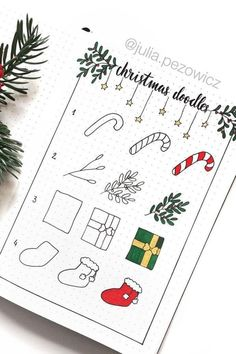 The ultimate collection of CHRISTMAS doodles for your bullet journal Want to add some decoration to your bullet journal this holiday season! Check out these step by step christmas doodles for inspiration! Bullet Journal Tumblr, Bullet Journal December, Bullet Journal Christmas, Bullet Journal Titles, Bullet Journal Inspiration, Christmas Tumblr, Christmas Doodles, Christmas Drawing, Christmas Ideas