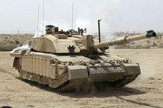 Challenger 2 Main Battle Tank patrolling outside Basra, Iraq MOD 45148325.jpg
