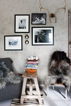 rustic + textured greys