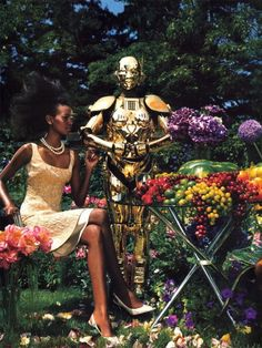 US Vogue September 2003 Photographed by Steven Klein Styled by Grace Coddington Model: Liya Kebede #fashion #photography