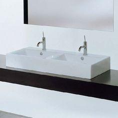 Fuori Box 108 Doppel-Waschtisch B: 108 T: 50 cm - TFL027 | Reuter Onlineshop