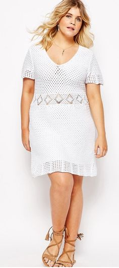 Plus Size Dress in Crochet