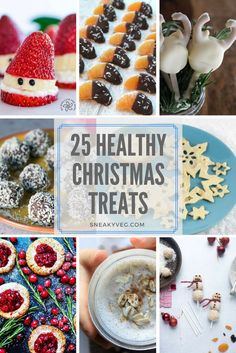 It can be hard to find fun festive treats that aren't packed full of sugar and weird ingredients. Here are 25 healthy Christmas treats for kids. Kids Christmas Treats, Healthy Christmas Treats, Christmas Recipes For Kids, Healthy Holiday Recipes, Vegan Christmas, Healthy Snacks For Kids, Christmas Baking, Holiday Treats, Christmas Buffet