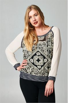 bohemian Gatsby laced top {plus sized clothing}