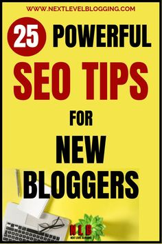 Seach engine optimization (SEO) can seem intimidating if you're a beginner blogger. I've put together 25 powerful SEO tips that are easy to start implementing. You have to have SEO strategies in place to help your blog post content start ranking in search engines like Google. Build a successful blog with Next Level Blogging! #bloggingforbeginners #blogtraffictips #bloggingtips #contentmarketing #blogsuccess Seo Help, Seo For Beginners, On Page Seo, Seo Strategy, Seo Tips, Make Money Blogging, Search Engine, Business Tips, Online Business