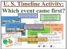 This is not your typical timeline review activity. It was able to be a competition and an engaging way to review over 30 different events from the whole year. I was able to check for understanding by them having to decide which event came first and push them to think through the extension questions. History Class, Teaching History, Us History, American History, 5th Grade Social Studies, Best Teacher Ever, History Timeline, Major Events, First Event