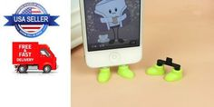 iPhone 5 5S 5C Shoe Stand Anti-Dust Holder Plug Feet Stand - Green Shoes #UnbrandedGeneric
