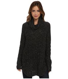 Free People Dylan Tweedy Pullover Sweater Charcoal Combo - Zappos.com Free Shipping BOTH Ways